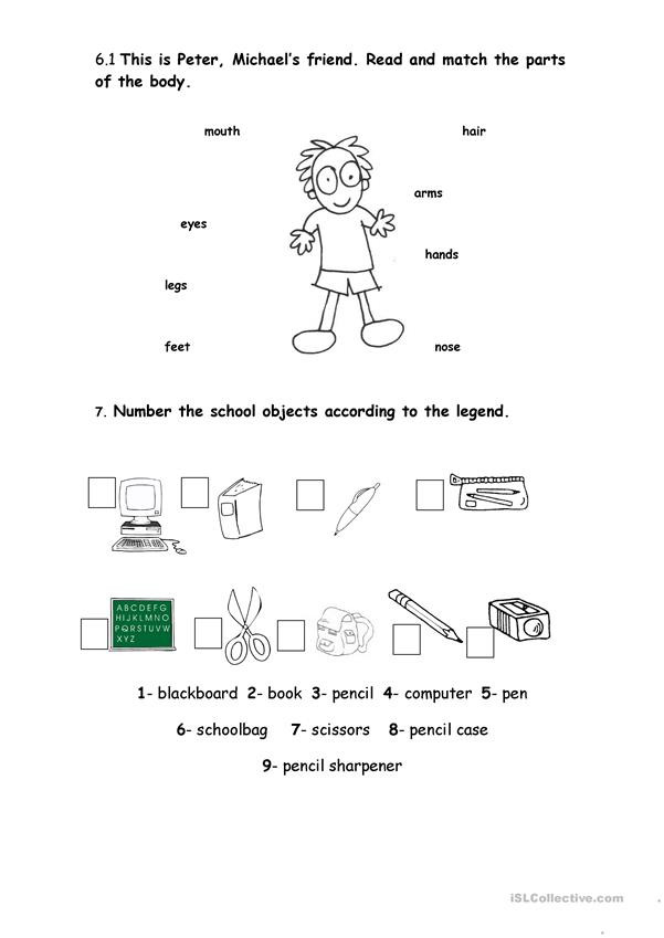 3rd Grade Human Body Worksheets English Evaluation Test 4th Grade Esl Worksheets for Clt