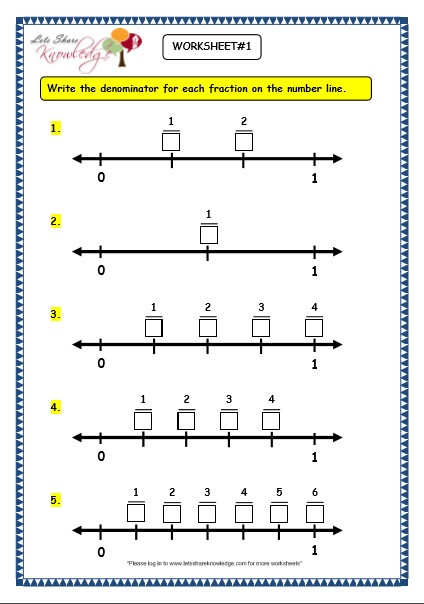 3rd Grade Number Line Worksheets Grade 3 Maths Worksheets 7 2 Making Fractions On the