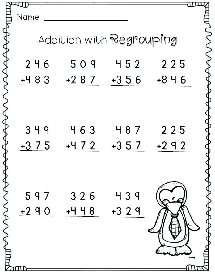 3rd Grade Regrouping Worksheets Addition Worksheets for Grade 3 Money Addition Worksheets