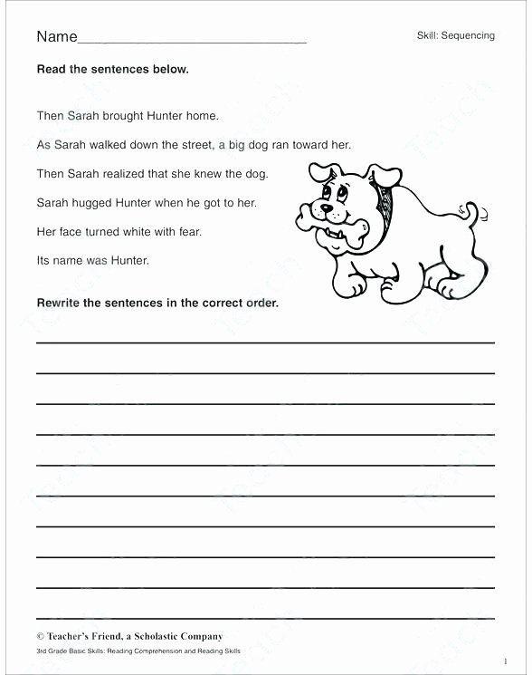 3rd Grade Sequencing Worksheets Kindergarten Sequence Worksheets Reading Prehension