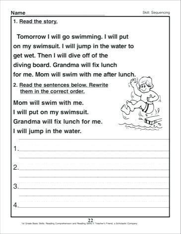3rd Grade Sequencing Worksheets September 25 2018 – Timothyfregosoub