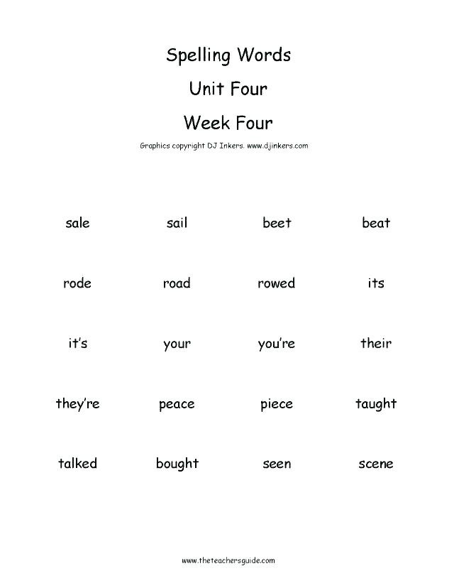 3rd Grade Spelling Worksheets Grade 3 Spelling Words Printable Worksheets Third Grade