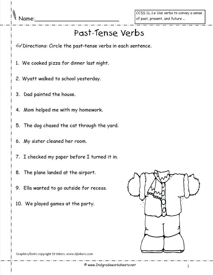 3rd Grade Verb Tense Worksheets Verb Tense Worksheets 3rd Grade Verb Tense Worksheet for and