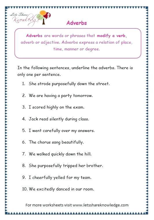 4th Grade Adverb Worksheets Adverbs Worksheets 4th Grade – Keepyourheadup