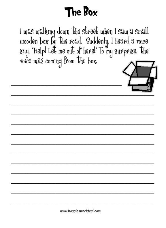 4th Grade Essay Writing Worksheets Esl Creative Writing Worksheets