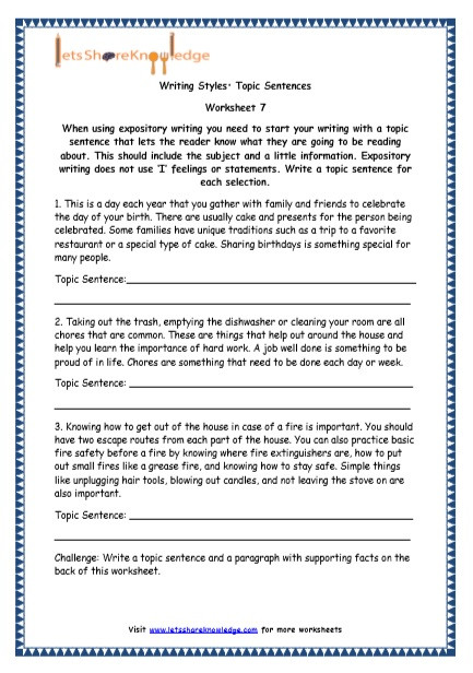 4th Grade Essay Writing Worksheets Grade 4 English Resources Printable Worksheets topic