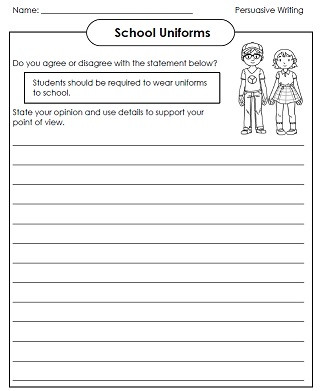 4th Grade Essay Writing Worksheets Printable Persuasive Writing Essays