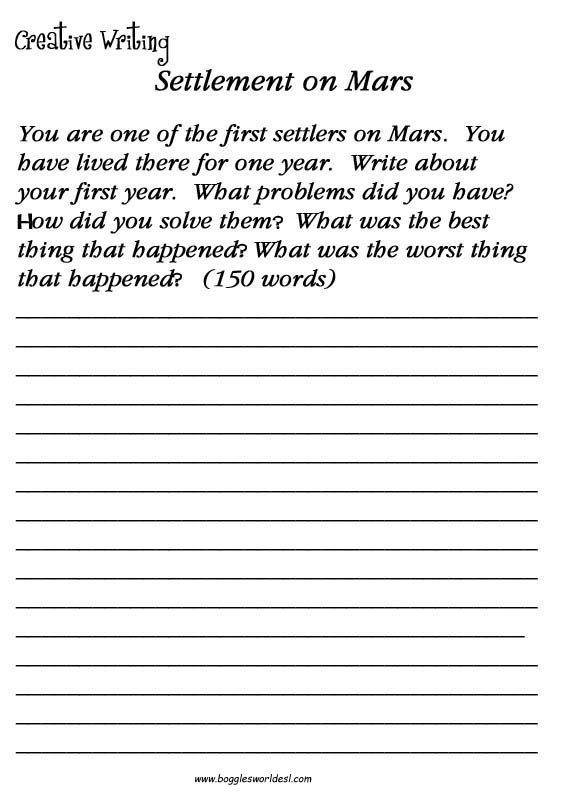 4th Grade Essay Writing Worksheets Writing Prompts for Adults