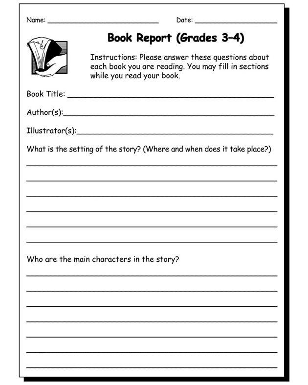 4th Grade Reading Response Worksheets Book Report 3 & 4 View – Free Book Report Worksheet Jumpstart