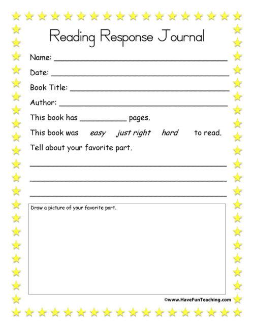 4th Grade Reading Response Worksheets Summarizing Worksheets • Have Fun Teaching