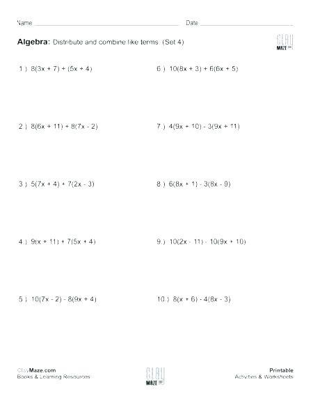 5th Grade Algebraic Expressions Worksheets Free Algebraic Expressions Worksheets – Dailycrazynews