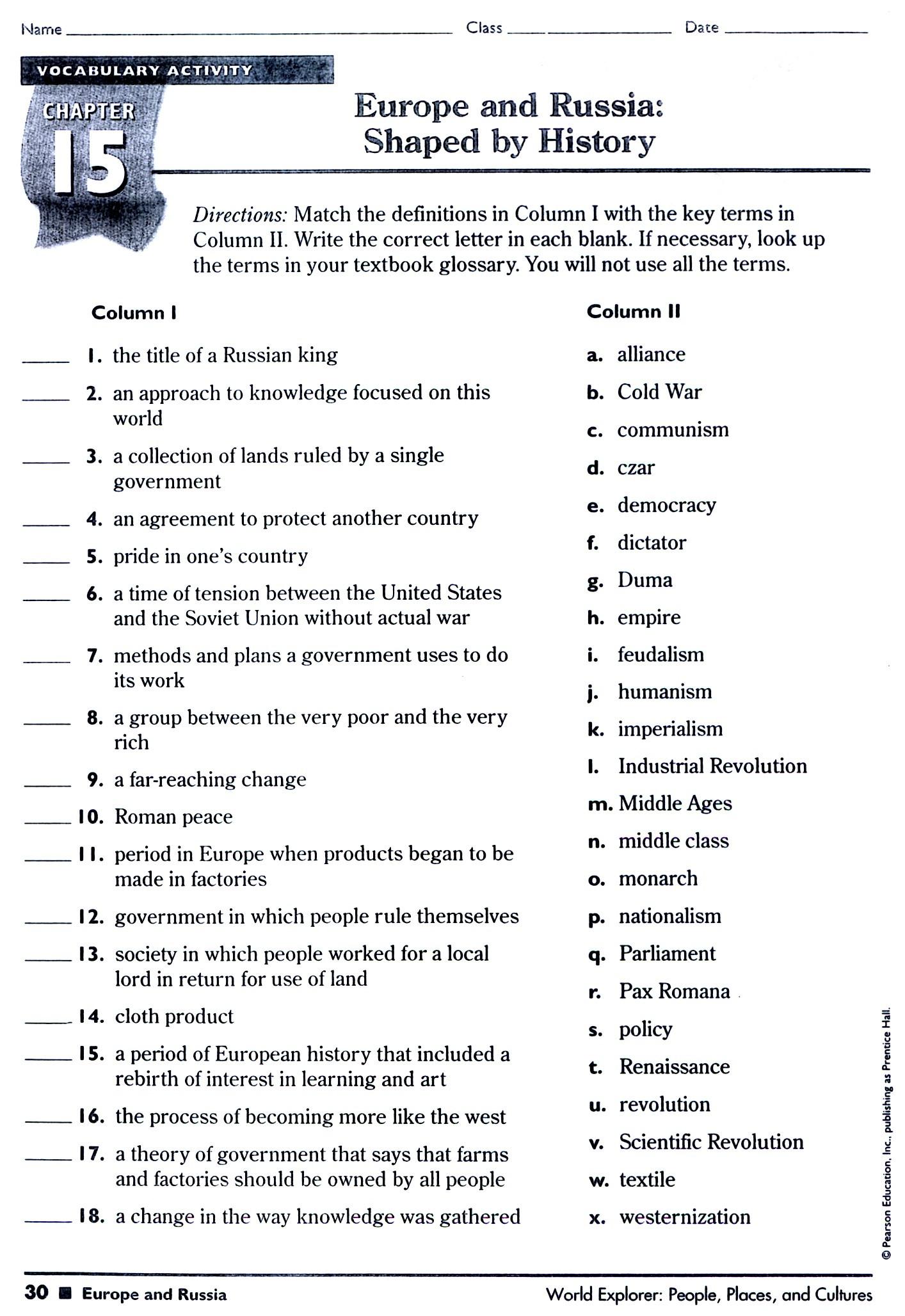 5th Grade History Worksheets 5th Grade History Worksheets