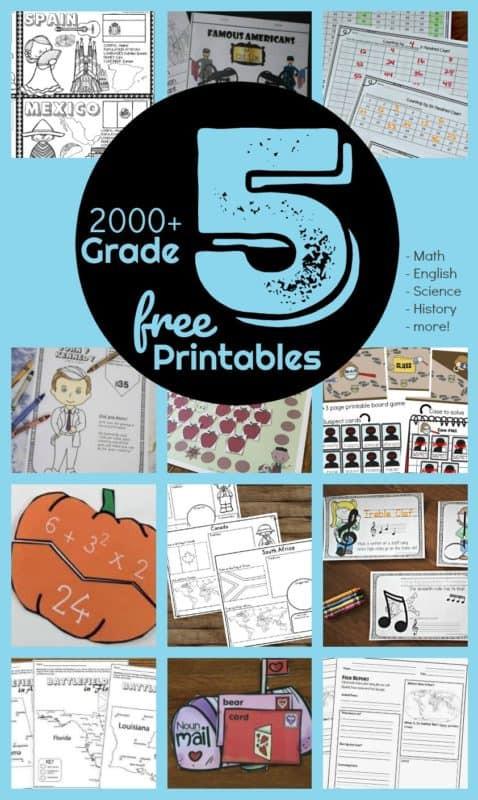 5th Grade History Worksheets Free 5th Grade Worksheets