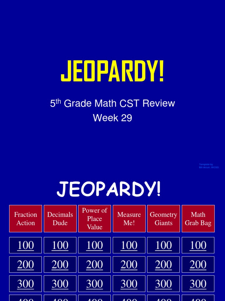 5th Grade Jeopardy Math 5th Grade Math Cst Review Rectangle