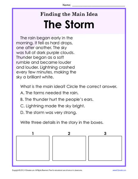 5th Grade Main Idea Worksheets Free Main Idea Worksheets 2nd Grade Worksheets solving