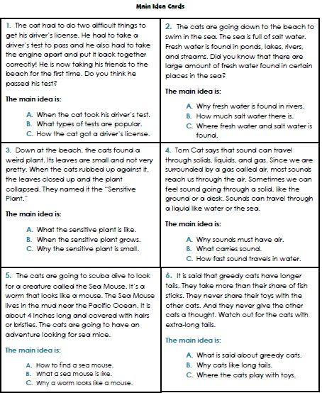 5th Grade Main Idea Worksheets Main Idea Worksheets 3rd Grade 1 Reading Pinterest En 2020