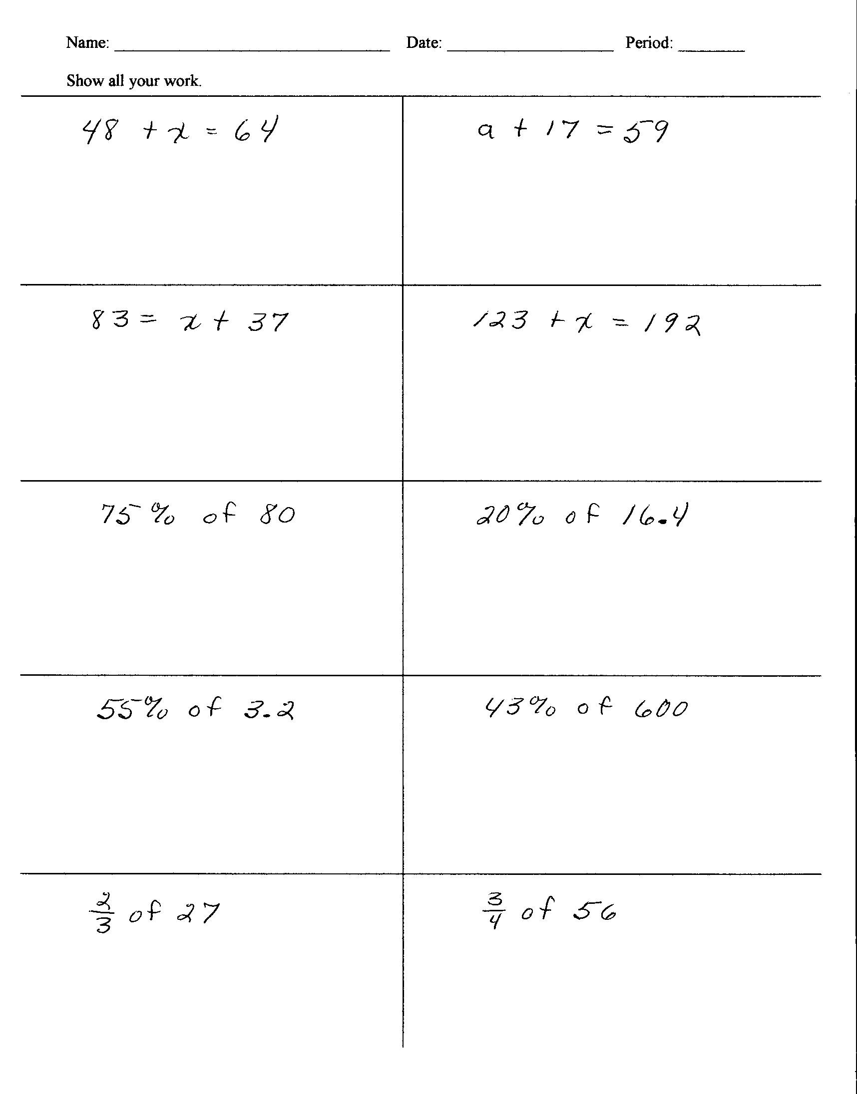 6th Grade istep Practice Worksheets 6th Grade Homework Help