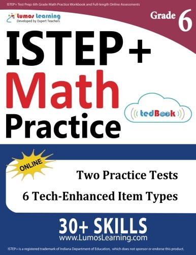 6th Grade istep Practice Worksheets Buy istep Test Prep 6th Grade Math Practice Workbook and