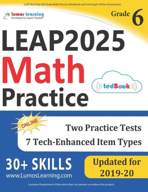 6th Grade istep Practice Worksheets Leap Test Prep 6th Grade Math Practice Workbook and Full Length Line assessments Leap Study Guide Paperback
