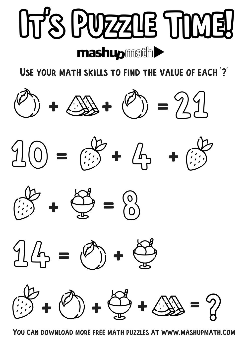 6th Grade Math Puzzles Printable Free Math Coloring Worksheets for 5th and 6th Grade — Mashup