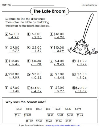 6th Grade Math Puzzles Printable Math Riddle Worksheets