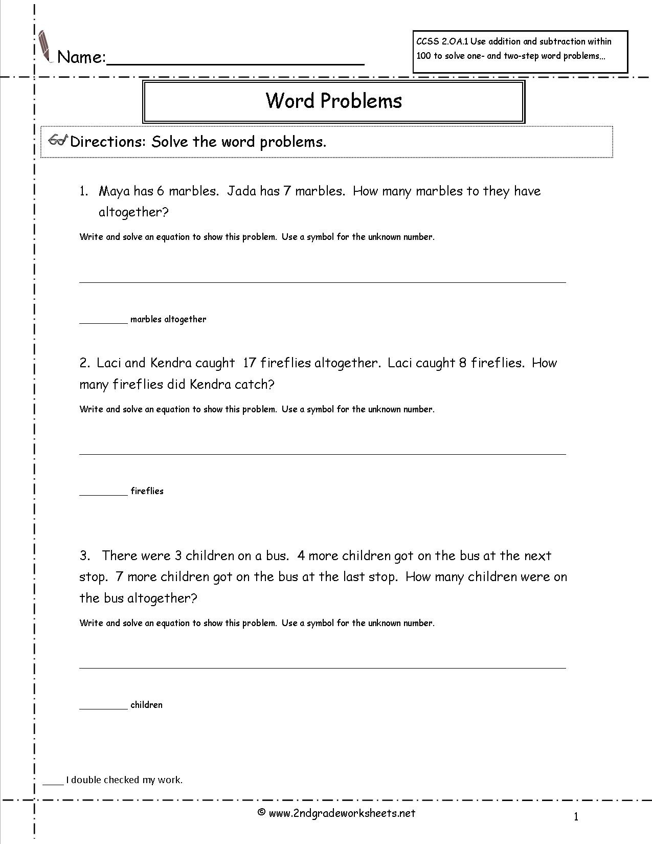 6th Grade Measurement Worksheets 2nd Grade Math Mon Core State Standards Worksheets