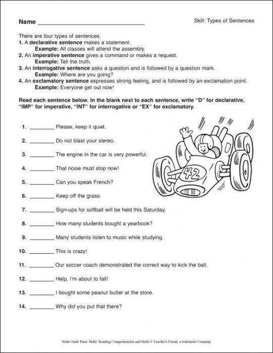 6th Grade Reading Worksheets Printable Reading Worksheets for 6th Graders Printable