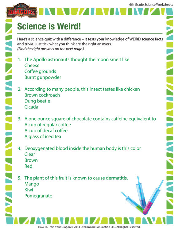 6th Grade Science Energy Worksheets Science is Weird View – Science Worksheet for 6th Grade – sod