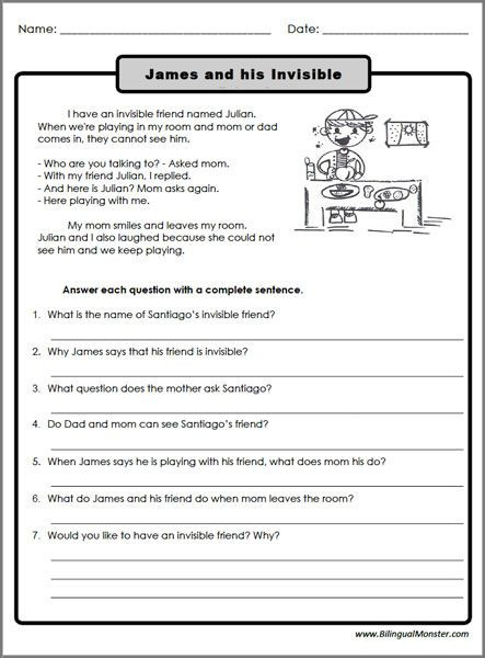 6th Grade Summarizing Worksheets Reading Prehension Worksheets 3rd Graders