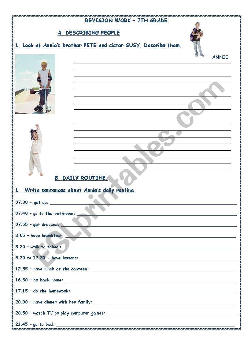 7th Grade Statistics Worksheets English Worksheets Revision Work 7th Grade