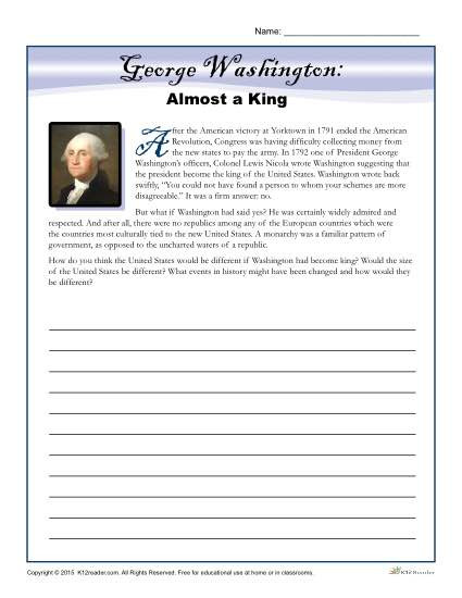 8th Grade social Studies Worksheets Washington S Birthday Worksheet