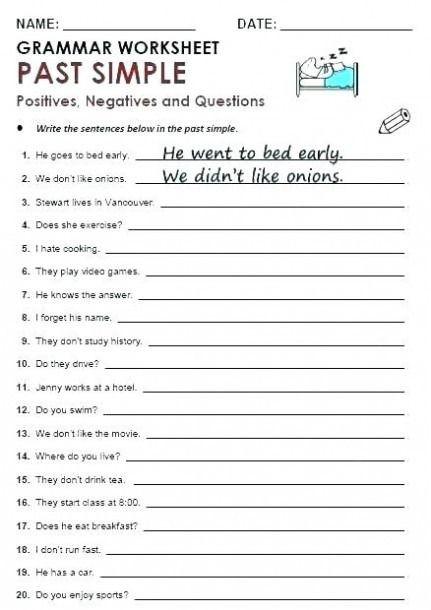 9th Grade Printable Worksheets 9th Grade Grammar Worksheets