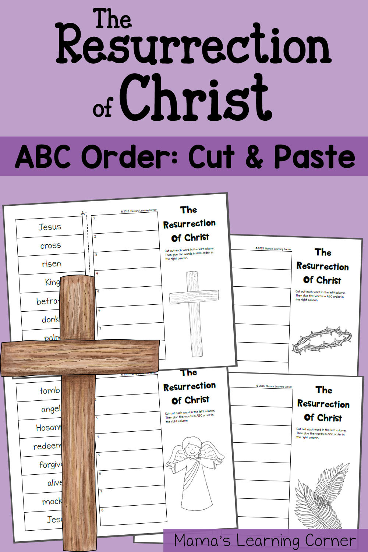 Abc order Worksheets Kindergarten Abc order Worksheet the Resurrection Of Christ Mamas
