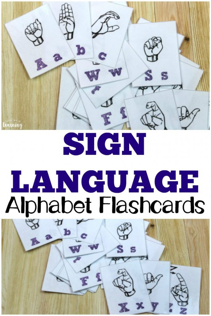 American Sign Language Worksheets Printable Free Printable Flashcards Sign Language Alphabet Flashcards