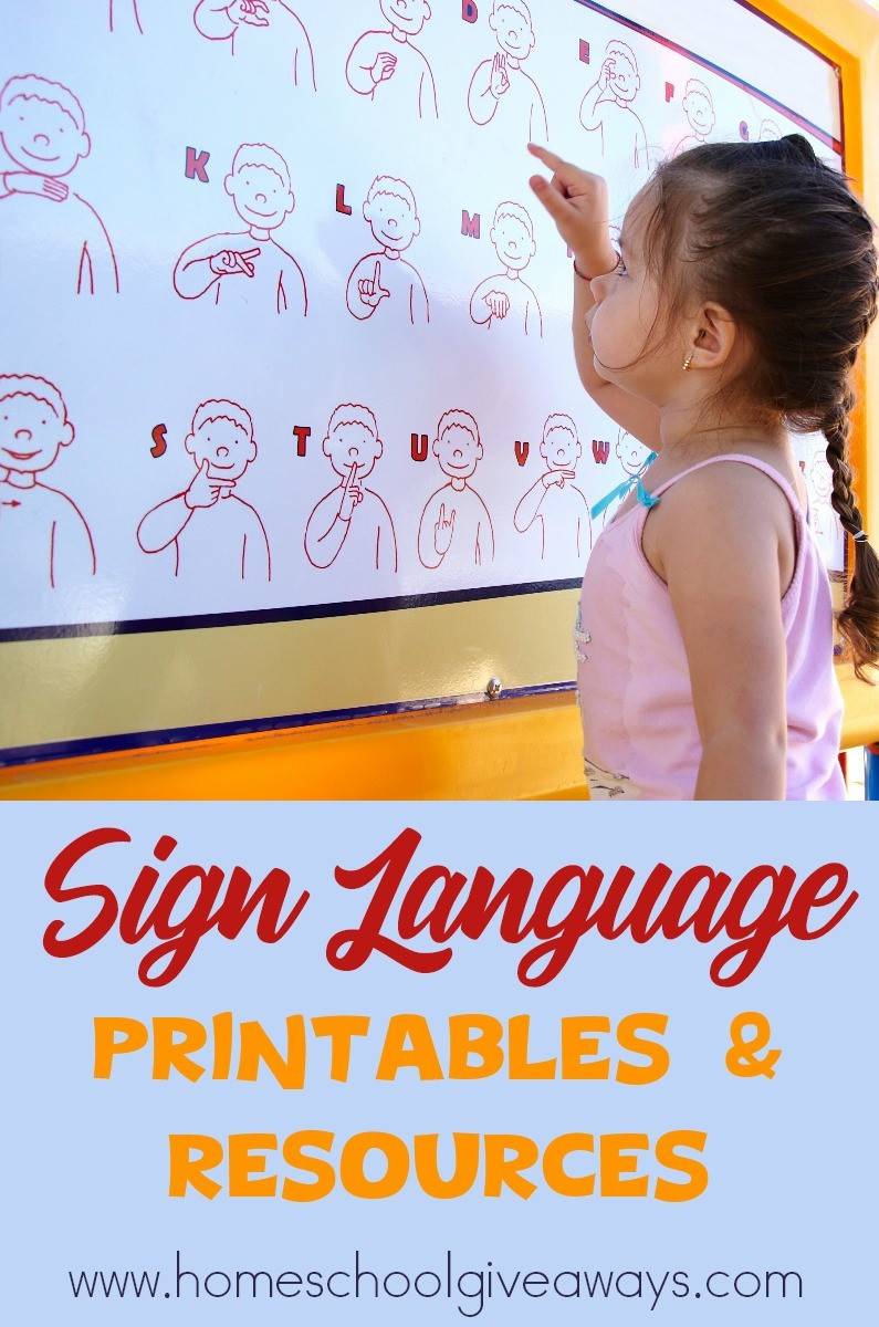 American Sign Language Worksheets Printable Free Sign Language Printables and Resources Homeschool