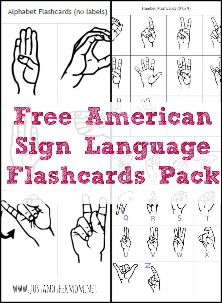 American Sign Language Worksheets Printable Freebie Friday Free Printable asl Alphabet Flashcards Pack