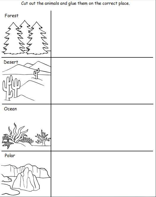 Animal Habitat Worksheets for Kindergarten Pin On Lp