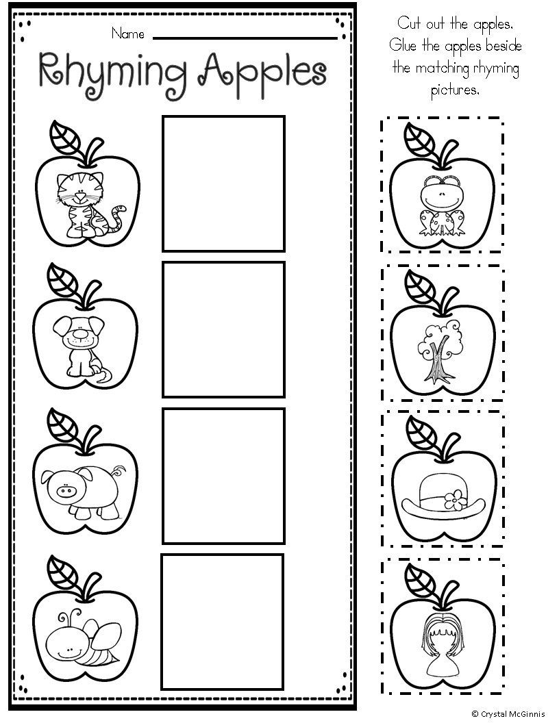 Apple Worksheets Kindergarten Apple themed Math and Literacy Printables for Young Learners