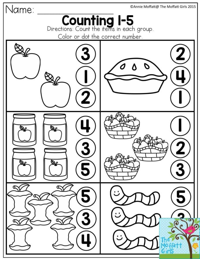 Apple Worksheets Kindergarten Back to School Packets Numbers Preschool Kindergarten Apple