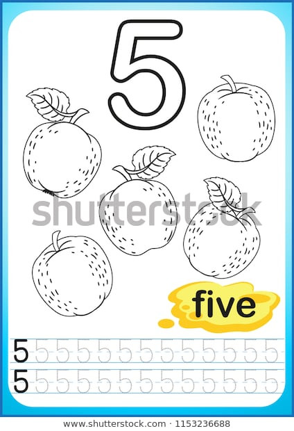 Apple Worksheets Kindergarten Printable Worksheet Kindergarten Preschool Exercises Writing