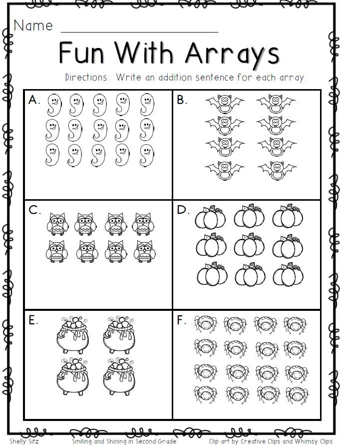 Arrays Worksheets Grade 2 46 [pdf] Multiplication Array Worksheets for Grade 2 Free