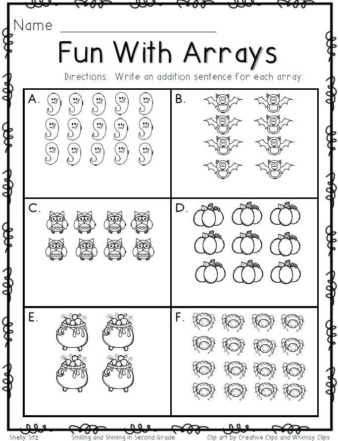 Arrays Worksheets Grade 2 46 [pdf] Multiplication Array Worksheets for Grade 2 Free