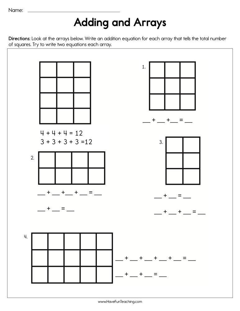 Arrays Worksheets Grade 2 I Page 23 Of 367