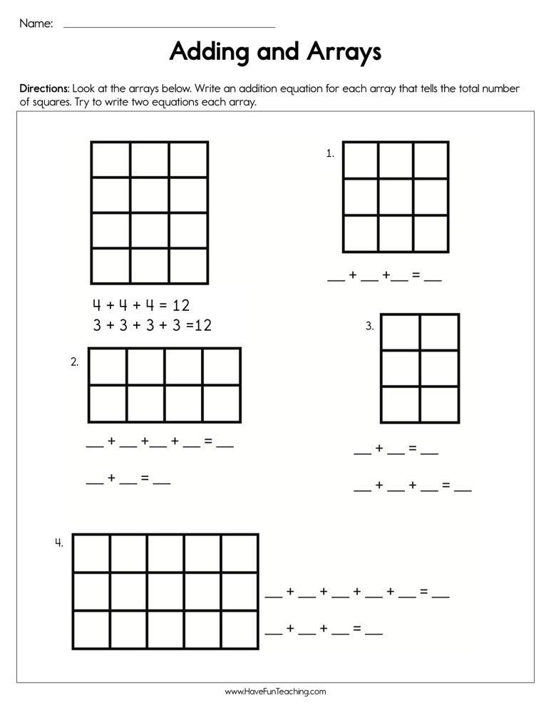 Arrays Worksheets Grade 2 I Page 23 Of 367