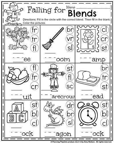 Blending Worksheets 1st Grade 1st Grade Math and Literacy Worksheets with A Freebie