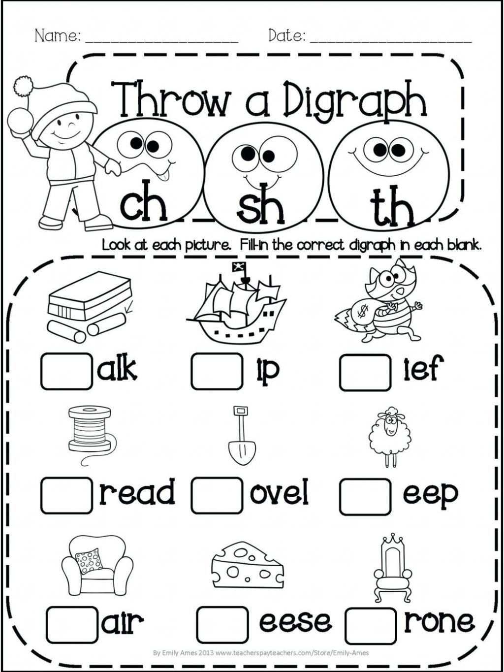 Blending Worksheets 1st Grade Worksheet Free First Grade Phonics Worksheets Scope and