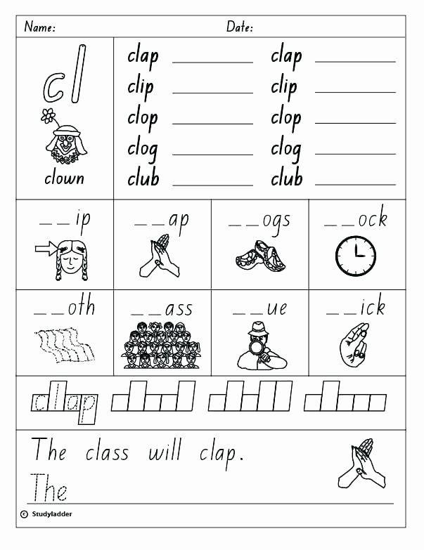 Blends Worksheets Kindergarten Free Blends Worksheets Kindergarten Free Blending Phonemes