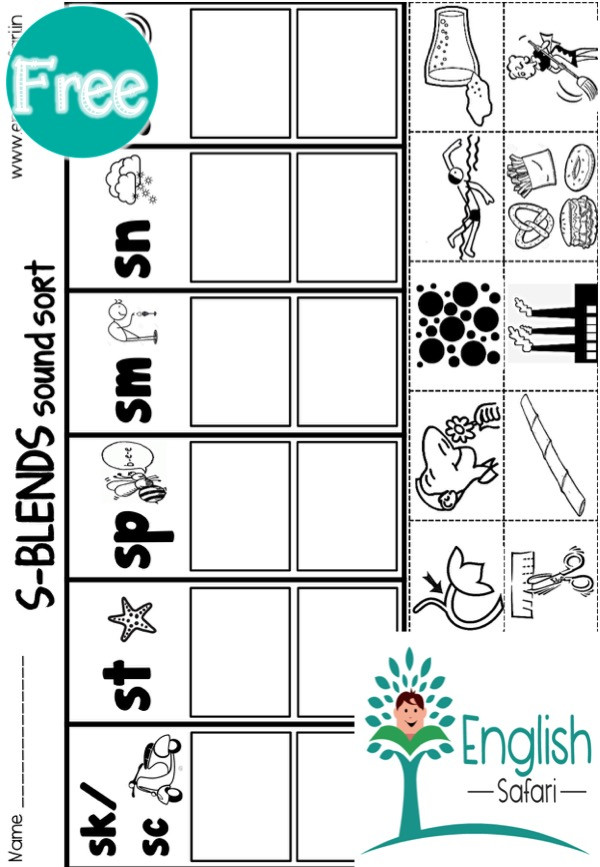 Blends Worksheets Kindergarten Free S Blend Worksheets for Kindergarten Free