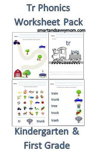 Blends Worksheets Kindergarten Free Tr Phonics Blend Free Printable Worksheet Pack – Smart and