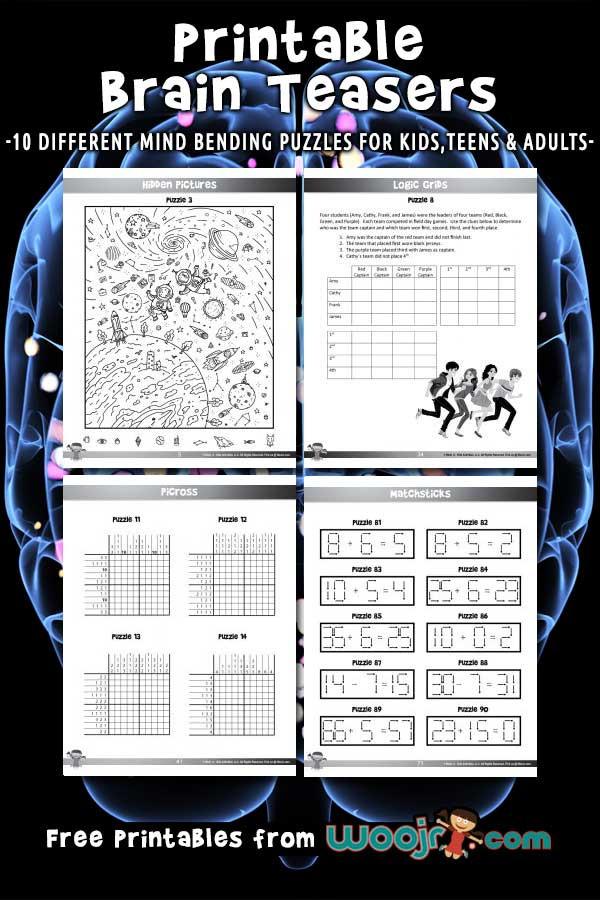 Brain Teaser Printable Worksheets Printable Brain Teasers for Kids